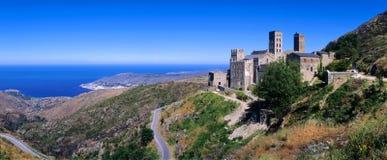 Spain - Costa Brava. Spain - Catalunya  - Costa Brava - Cap de Creus Natural Park - Sant Pere de Rodes - The Monastir de Sant Pere de Galligants Stock Image