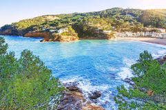 Spain. The Costa Brava. Begur, Sa Riera. Catalonia. Nice view of Stock Image
