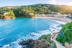 spain Costa Brava Begur, Sa Riera catalonia vista piacevole di immagini stock