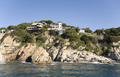 Spain, Costa Brava. Home On The Rock. Royalty Free Stock Photography