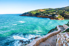 spain Costa Brava Laserum royaltyfri bild