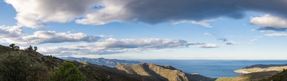 Spain Costa Brava panoramic view Royalty Free Stock Photography