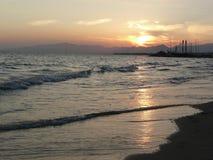 Spain. Costa Dorada. Salou resort. Evening. On Mediterranean sea Royalty Free Stock Images