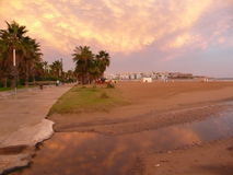 Spain. Costa Dorada. Salou resort. After rain Stock Photo