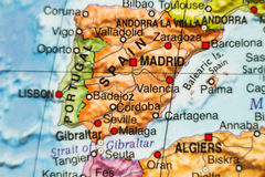 Spain country map . Royalty Free Stock Photos