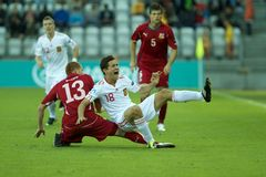 Spain - Czech Republic (UEFA Under21) Stock Photography