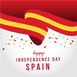 Happy Spain Independent Day Vector Template Design Illustration royalty free illustration