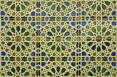 Spain - wall tiling in Mudejar style Royalty Free Stock Image