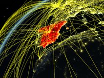 Spain on Earth with network stock illustration