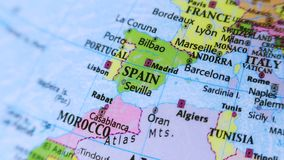 Spain. Europe. Terrestrial Globe 4K stock video