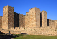 Spain, Extremadura, Caceres, Medieval castle of Trujillo. Stock Photos