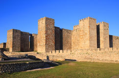 Spain, Extremadura, Caceres, Medieval castle of Trujillo. Spain, Extremadura, Caceres, Medieval castle above the historical town of Trujillo. Birth place of Royalty Free Stock Image