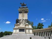 spain för alfonso madrid parkretiro staty xii Fotografering för Bildbyråer