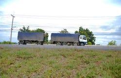 spain för bergpyrenees väg lastbil Royaltyfria Foton