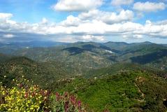 spain för bermejabergtoppig bergskedja sikt arkivbild