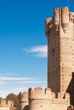 spain för slottlamota torn Fotografering för Bildbyråer