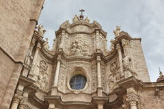 Spain facade of the Cathedral Church Royalty Free Stock Photo