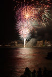 Spain Fireworks. Near the sea Stock Photo