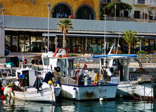 Spain fishing boats Stock Photography