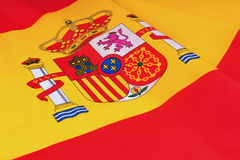 Spain Flag. Close-up of Spain Flag stock photography