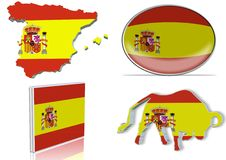 Spain flag Royalty Free Stock Photos