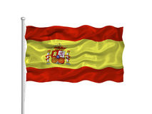 Spain Flag 2 Stock Photo