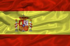 Spain Flag 3 Stock Images