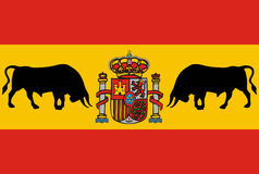 Spain flag Royalty Free Stock Photography
