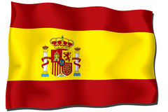 Spain Flag. Flag of Spain - waving in the wind - includes clipping path Vector Illustration