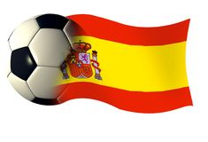 Spain flag. World cup illustration Stock Photos