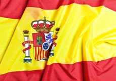 Spain flag background Stock Photography