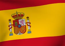 Spain flag background Stock Photo
