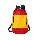 Spain flag backpack isolated on white Stock Photo