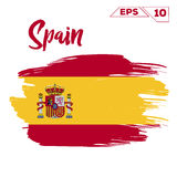 Spain flag brush strokes painted Stock Photography