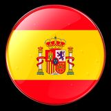 Spain Flag Button Stock Photos