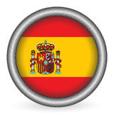 Spain flag button Royalty Free Stock Photos
