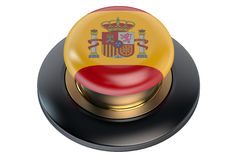 Spain flag button Stock Image
