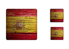 Spain flag Buttons Stock Photo