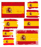 Spain flag collection vector Stock Photography