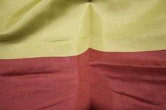 Spain flag fabric Royalty Free Stock Photos