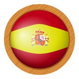 Spain flag flag on round badge Royalty Free Stock Photography