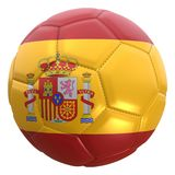 Spain flag on a football ball Royalty Free Stock Images