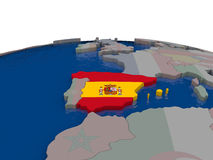 Spain with flag Stock Images
