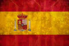 Spain flag in grunge effect Stock Photos
