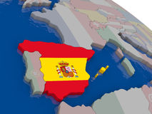 Spain with flag Stock Image