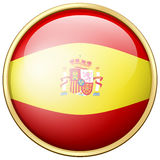 Spain flag on round badge Royalty Free Stock Photography