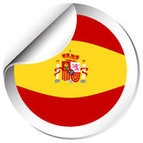Spain flag on round badge Royalty Free Stock Image