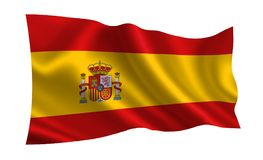 Spain flag , A series of `Flags of the world.` The country - Spain flag royalty free illustration