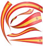 Spain flag set Stock Photos