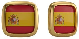 Spain flag symbol isolated on white background. 3D illustration. Spain flag symbol isolated on white background. 3D illustration royalty free illustration